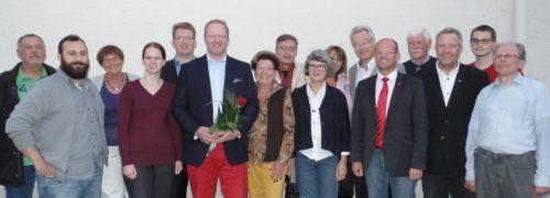 Peter Sulzann, neuer Vorsitzender in der Mitte
