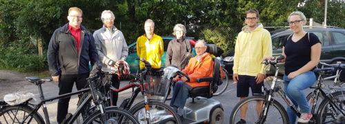 SPD-Fraktion mit dem Fahrrad in Seligenstadt unterwegs