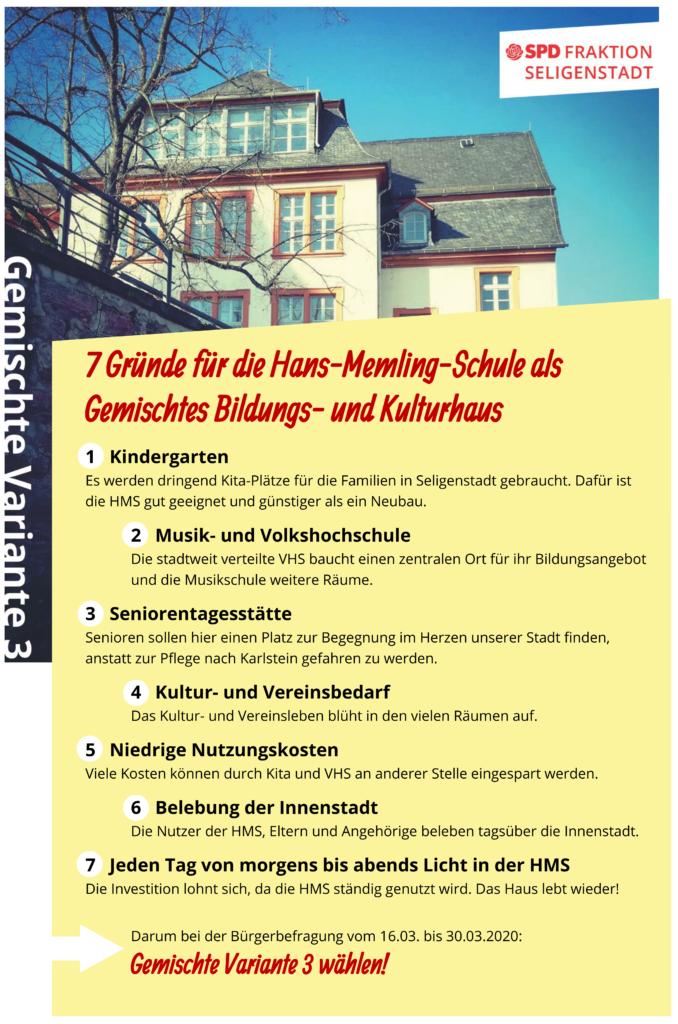 7 Gründe für die Hans-Memling-Schule als gemischtes Bildungs- und Kulturhaus