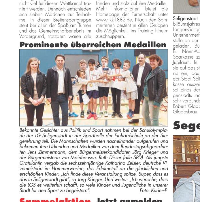 Seligenstadt Sport Schule Kurier